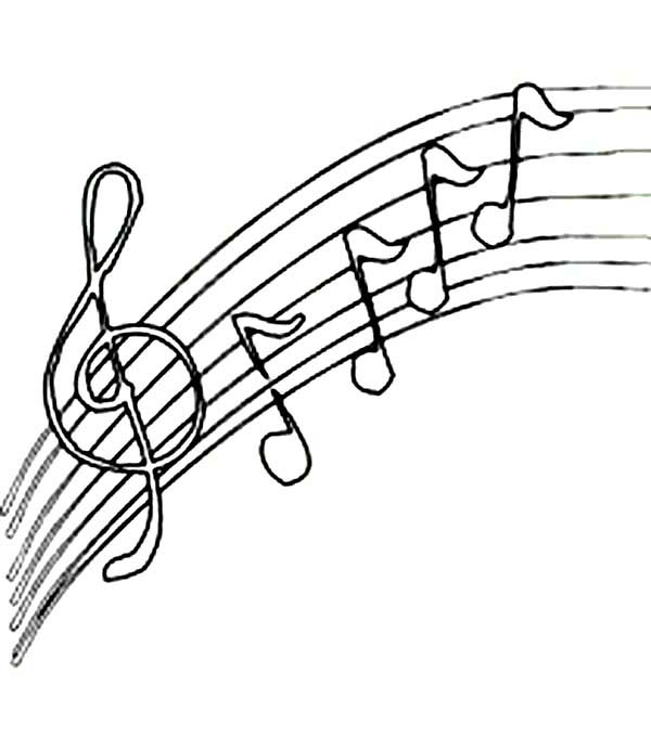 upside down music notes coloring page kids play color