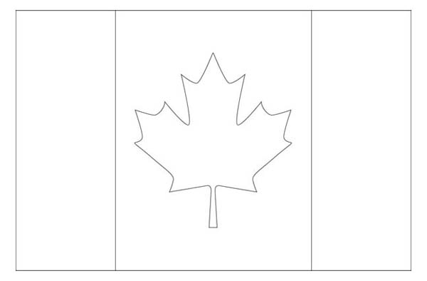 canada nation flag coloring page kids play color