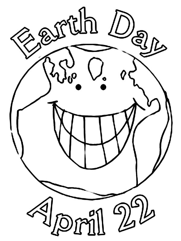 celebrating earth day on aprill 22nd coloring page kids play color