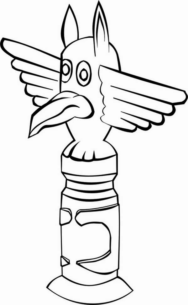 totem poles monument coloring page kids play color