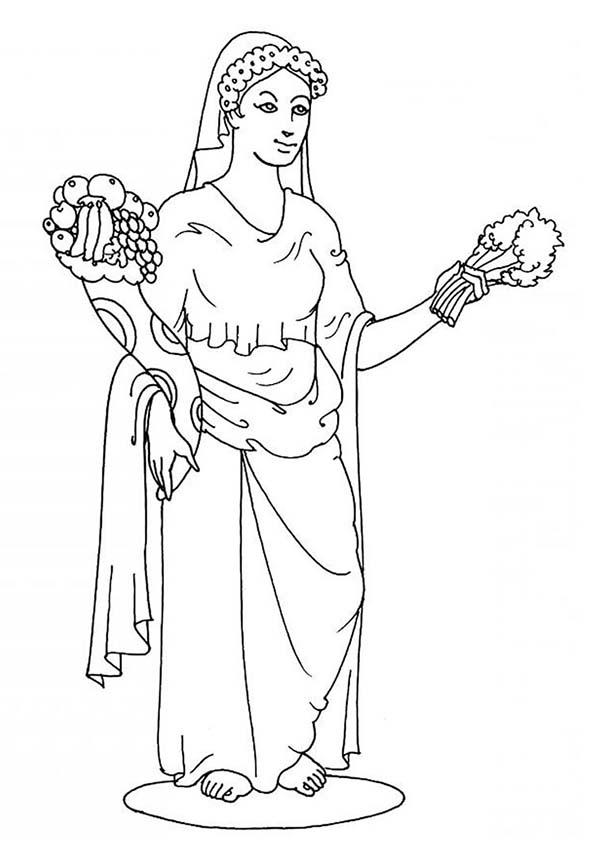 aphrodite greek goddess coloring page kids play color