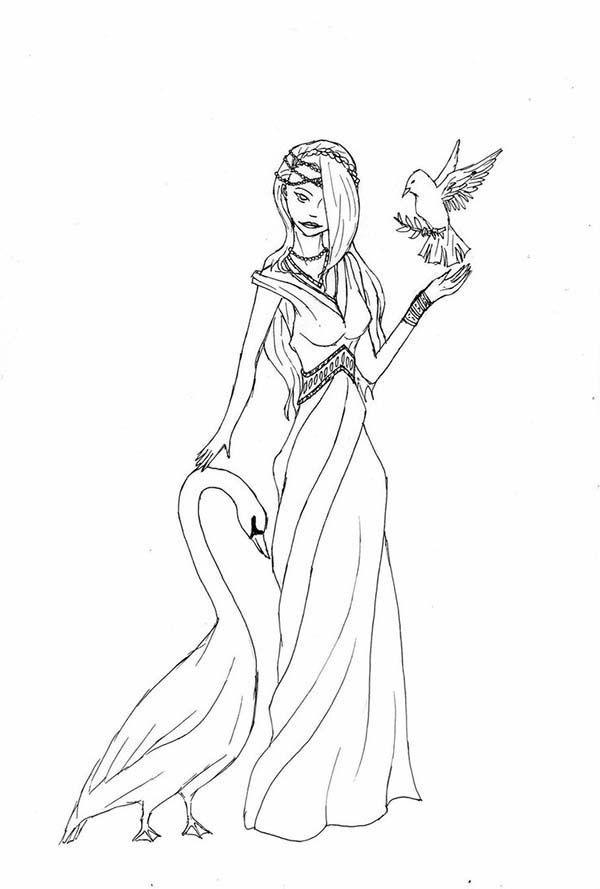 beautiful hair of aphrodite coloring page beautiful hair of