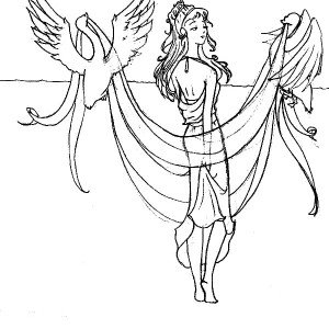 manga picture of aphrodite coloring page kids play color