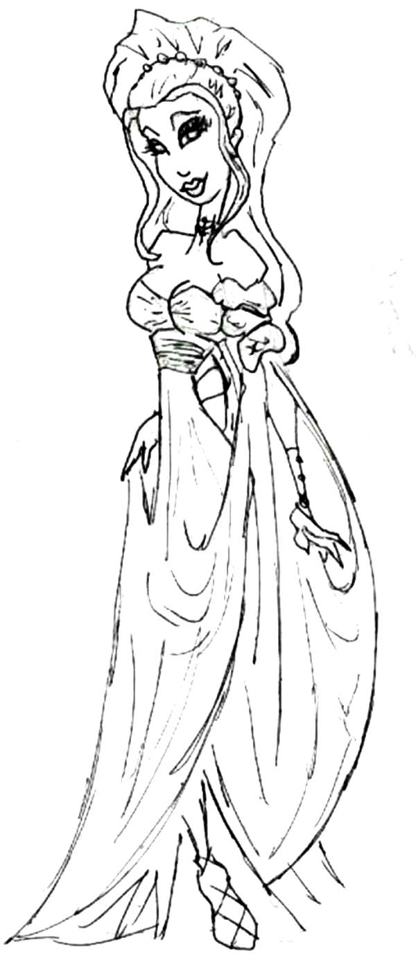 cartoon of aphrodite coloring page kids play color