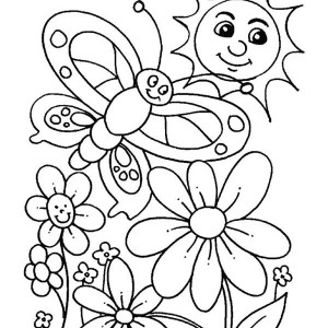 april month for spring coloring page kids play color