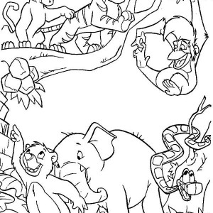 ranjan with shanti in the jungle book coloring page kids play color