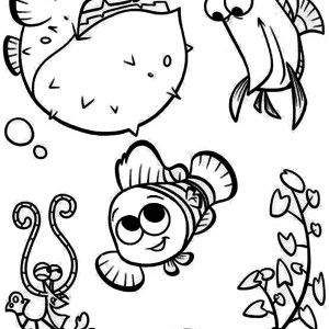 fish with nemo coloring page puffer fish with nemo coloring page