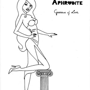picture of greek goddess aphrodite coloring page picture of greek