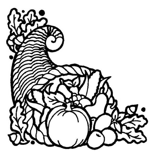 Empty Cornucopia Coloring Pages Printables | Fun thanksgiving crafts,  Thanksgiving crafts for kids, Cornocopia craft | 600x600