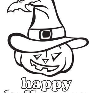 joyful and happy halloween day from jack o 39 lantern coloring page