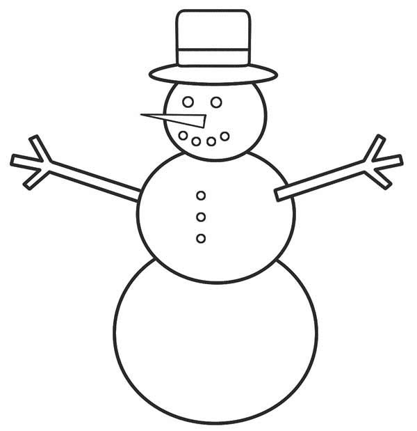 how to draw mr snowman for christmas coloring page kids play color