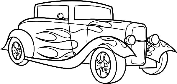 hot rod chevy cars coloring pages kids play color