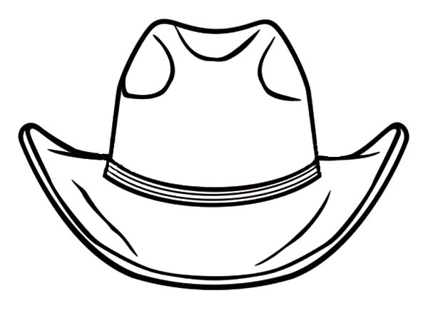 awesome cowboy hat coloring pages kids play color
