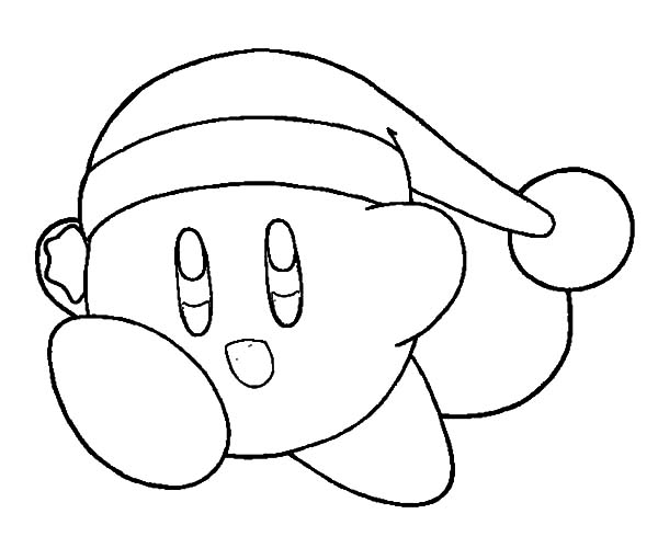 kirby christmas kirby coloring pages