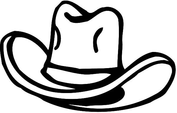 simple cowboy hat coloring pages simple cowboy hat coloring pages