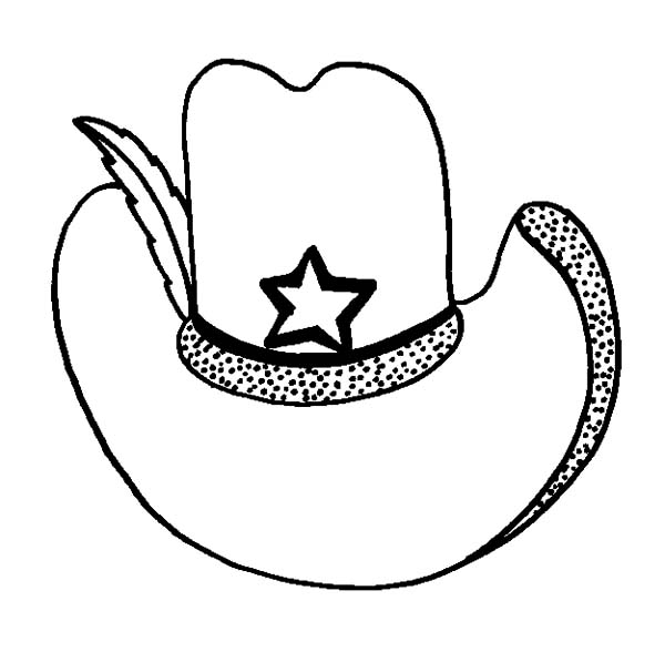 picture of cowboy hat coloring pages kids play color