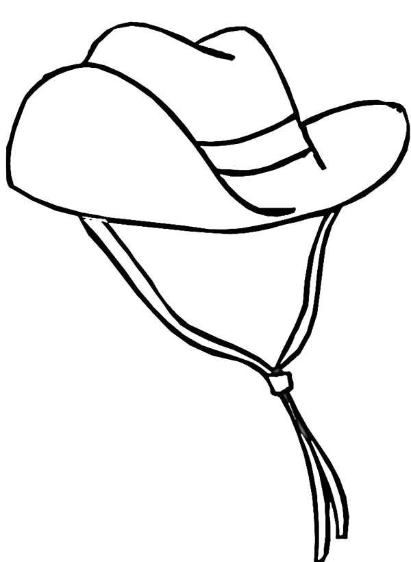 cowboy hat with decorative hat band coloring pages kids play color