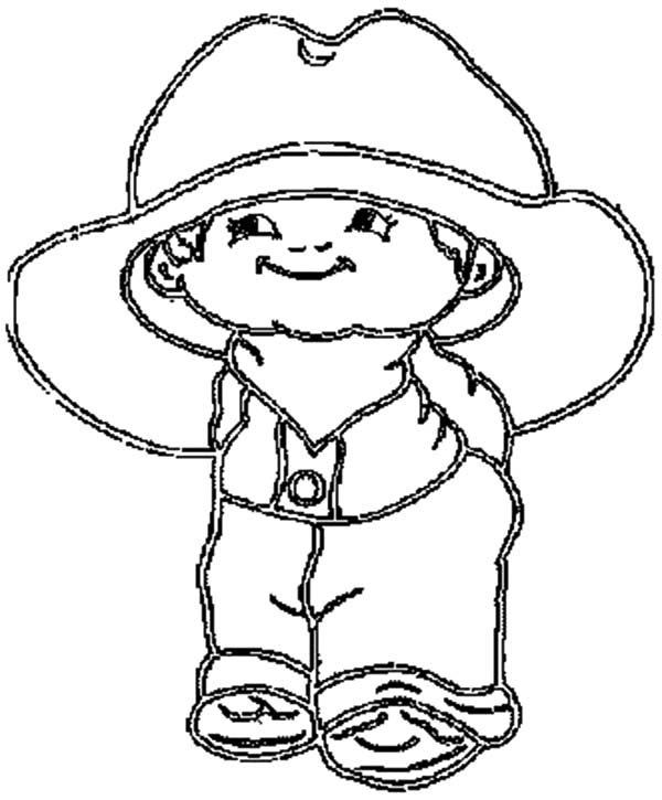 drawing cowboy hat coloring pages kids play color