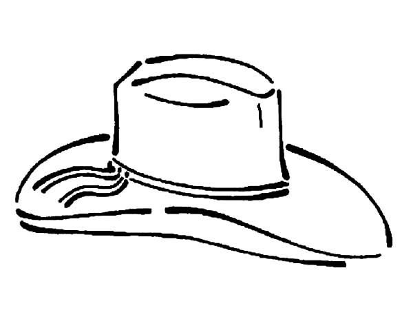 simple cowboy hat coloring pages kids play color