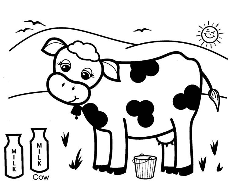 dairy cows coloring pages - photo#27