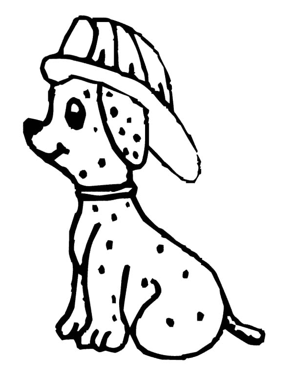 fire dog is scared to fire coloring pages kids play color