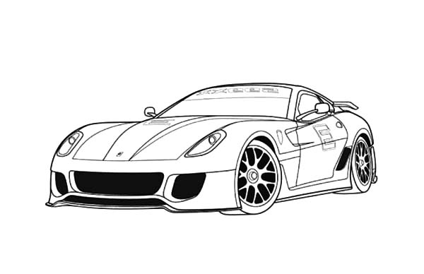 ferrari 599 sports cars coloring pages kids play color