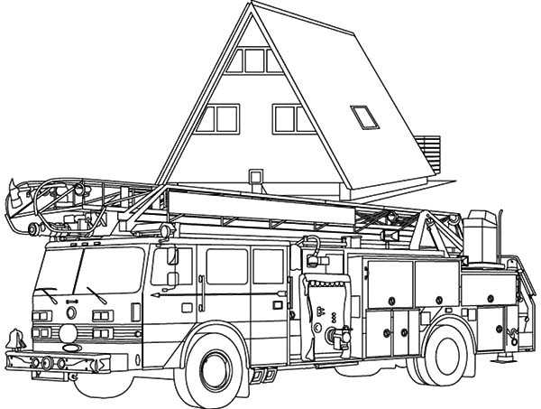 cartoon picture of fire engine coloring pages kids play color