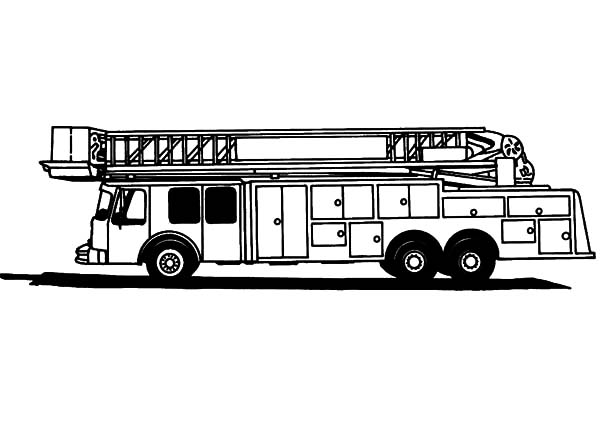fire engine for tall building coloring pages kids play color