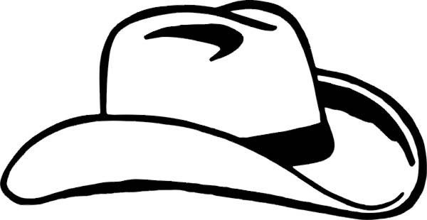 sketch of cowboy hat coloring pages kids play color