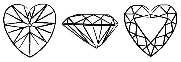 heart diamond shape cut coloring pages heart diamond shape cut