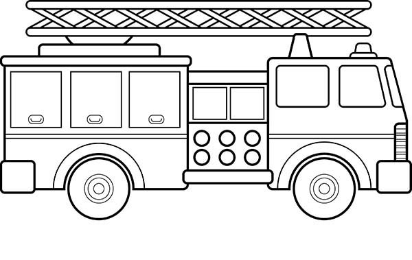 drawing fire engine coloring pages kids play color