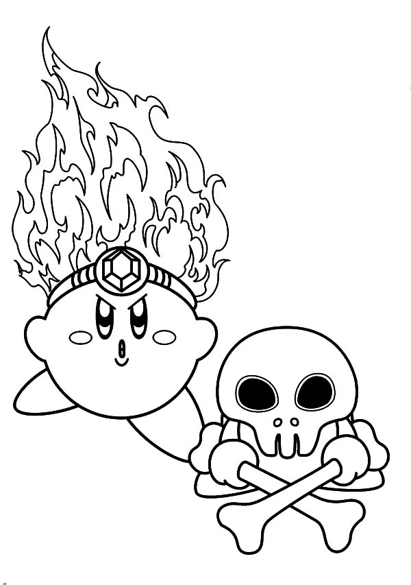 kirby kirby death fire coloring pages