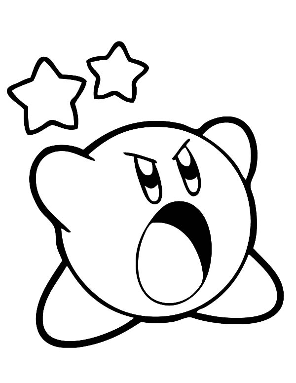 kirby kirby scream loud coloring pages