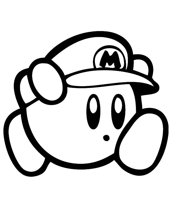 kirby kirby super mario coloring pages