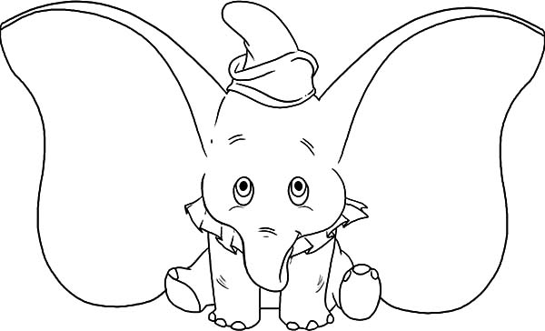 little dumbo big ear coloring pages kids play color