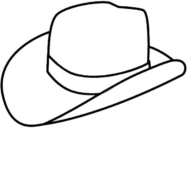 picture of cowboy hat coloring pages picture of cowboy hat