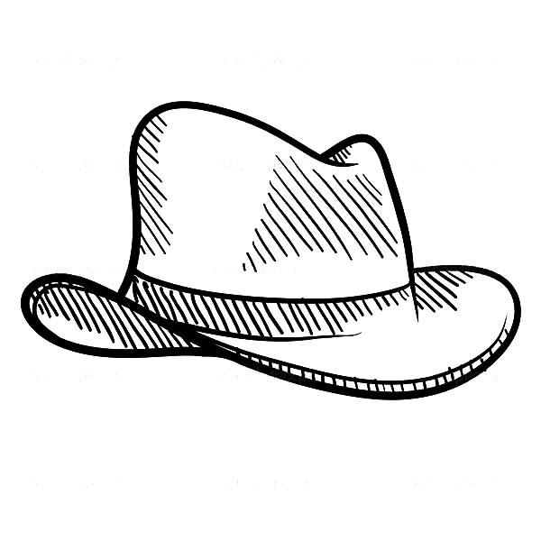 sketch of cowboy hat coloring pages sketch of cowboy hat coloring