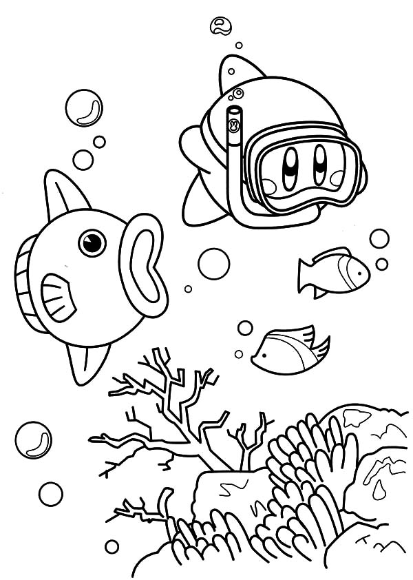 kirby friend coloring pages kids play color
