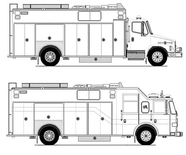 type of fire engine coloring pages kids play color