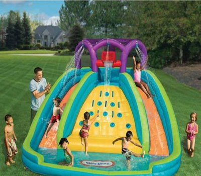 Rocky Mountain River Race - Your Kids Inflatable Giant Water Slide