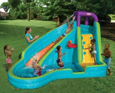 Slam and Curve Slide - Your Kids Inflatable Backyard Pool
