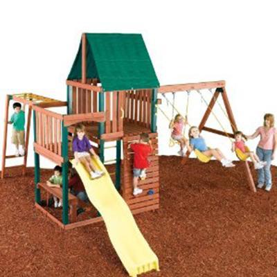 Swing N Slide Chesapeake Wood Swing Set