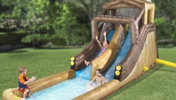 The Inflatable Backyard Log Flume