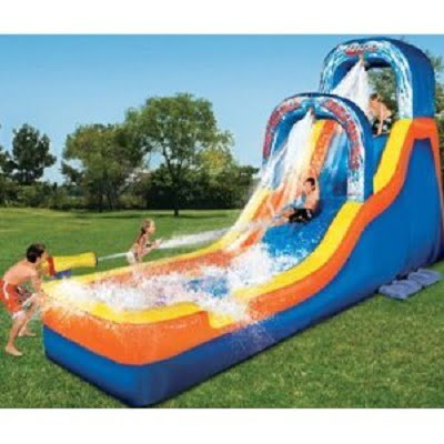 Banzai Double Drop Falls Inflatable Water Slide