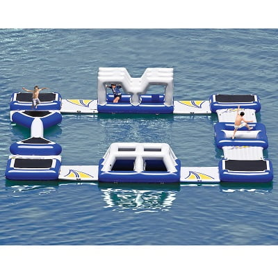 The Floating Obstacle Course - the perfect inflatable floating raceway this summer
