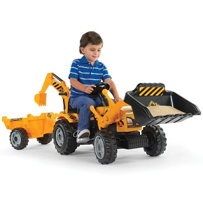 The Ride On Double Digger - An easy to use Backhoe and Loader Ride on Toy for kids