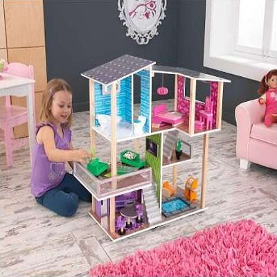 Kidkraft Modern Living Dollhouse A Modern Dollhouse Large Enough To Give Room To Multiple