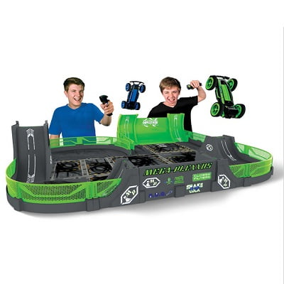 The Glow In The Dark Stunt Car Stadium - Allows kids to perform dazzling flips, hair-raising jumps, and spectacular mid-air collisions
