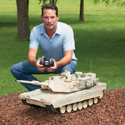 The Remote Controlled Abrams Tank - a 1:16 scale remote control tank packed with realistic lights, sounds and movements