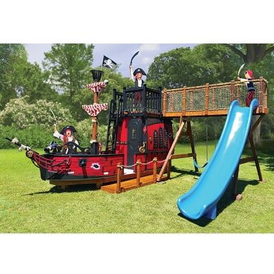 Blackbeard's Playhouse - Your kids uniquely designed pirate ship playhouse